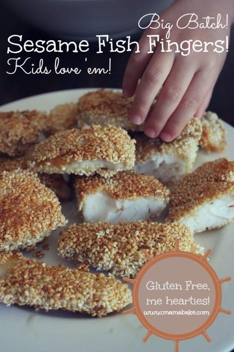 Sesame Seed Fish Fingers Gluten-Free Big Batch
