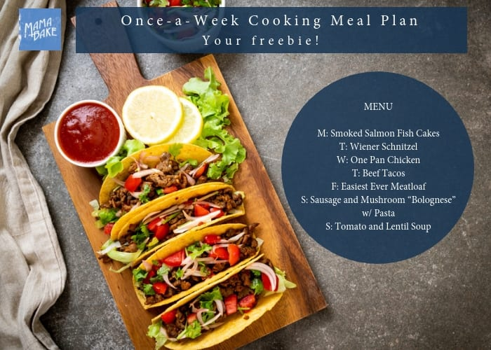 Once a Week Cooking Plan: Extra Friendly Family Meals