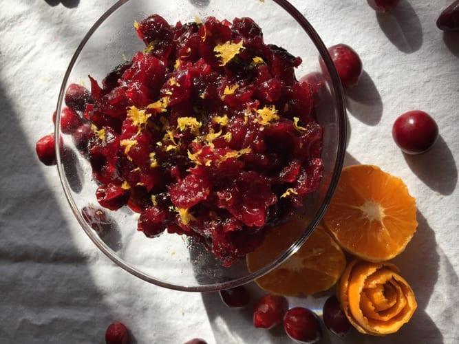 Orange and Cranberry Relish