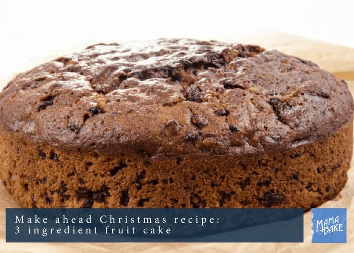 3 Ingredient Fruit Cake Very Easy Unyucky Families