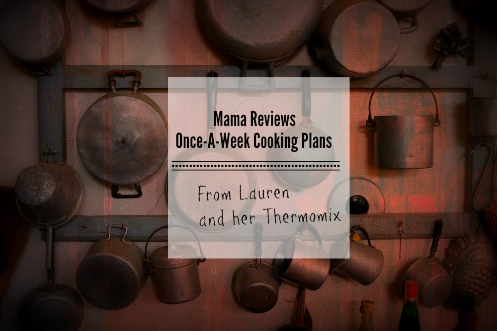 Lauren Reviews Once-A-Week Cooking Plan with a Thermomix