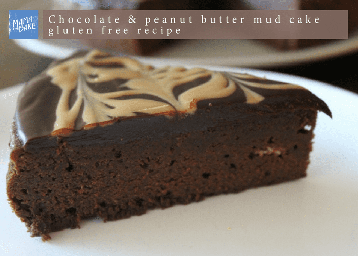 Chocolate and Peanut Butter Gluten Free Mud Cake