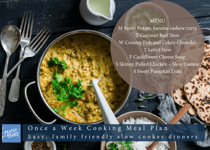 Once A Week Cooking Meal Plan – Easy, Kid Friendly Slow Cooker Family Dinners