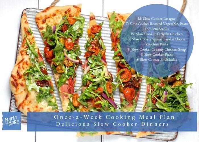 Once-A-Week Cooking plan: Slow Cooker Dinners