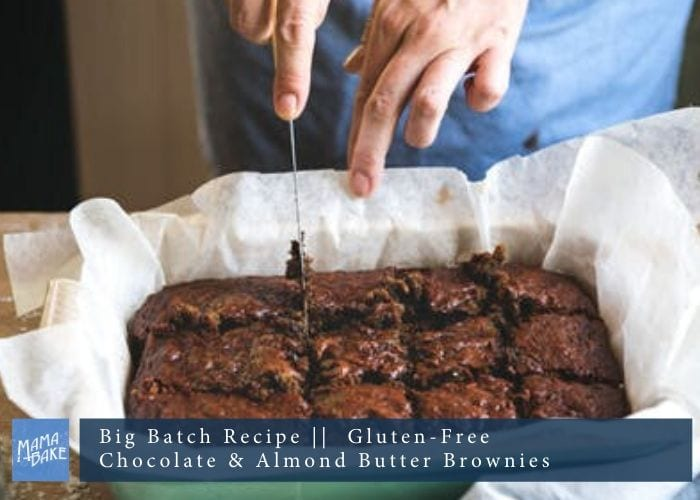 Big Batch Recipe: Chocolate and Almond Butter Brownies (GF)