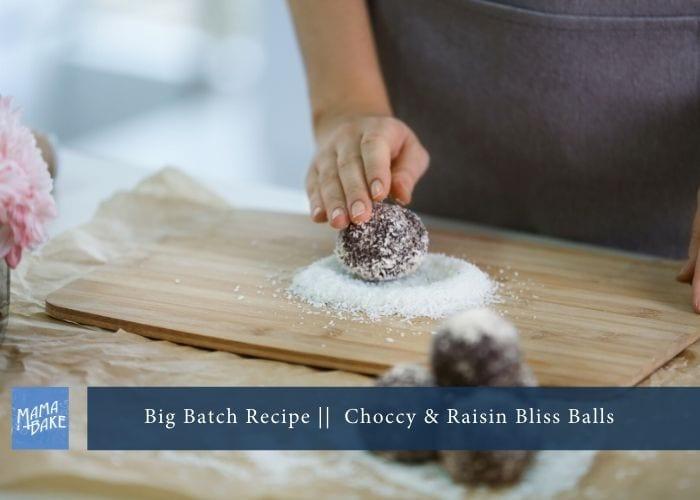 Big Batch Recipe: Chocolate & Raisin Bliss Balls (GF)