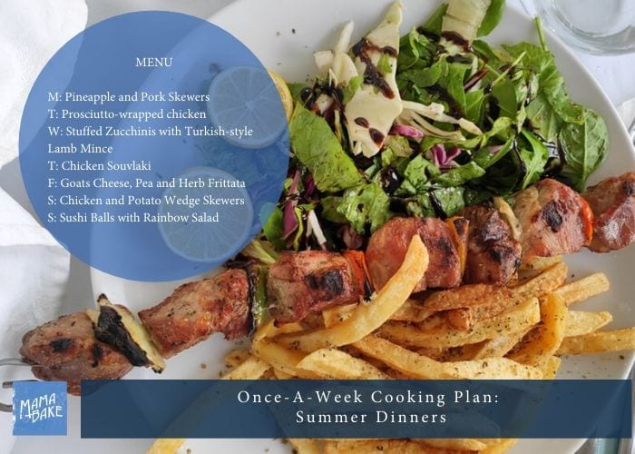 Once-A-Week Cooking Plan: Summer Dinners