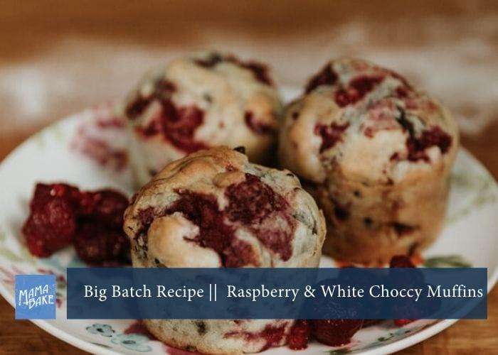 Big Batch Recipe: Raspberry and White Choc Chip Muffins
