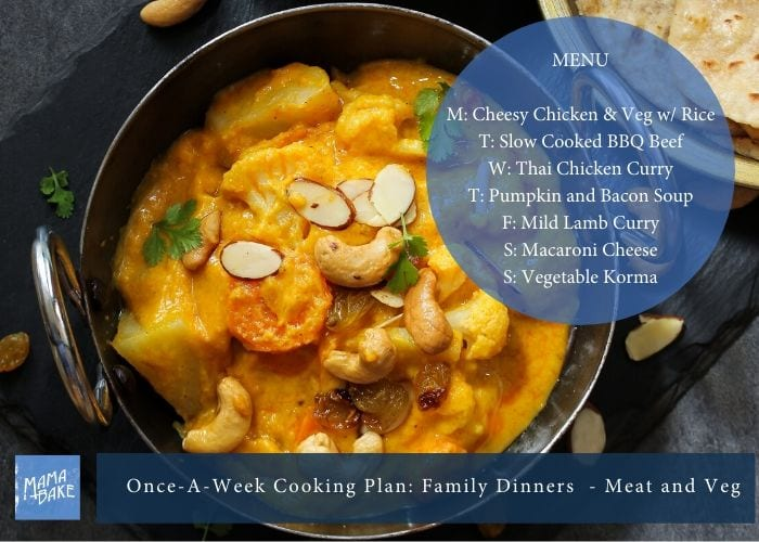 Once-A-Week Cooking Plan: International Meat and Veg family Dinners