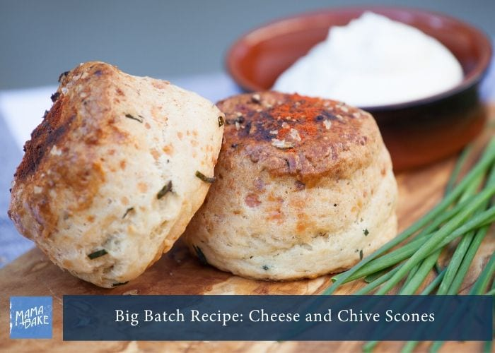 Big Batch Recipe:Cheese and Chive Scones
