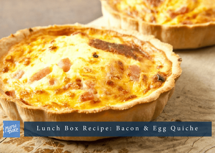 Lunch box recipe: Bacon & egg quiche