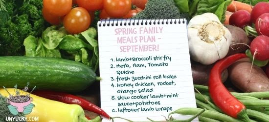 Spring Themed Meal Plan