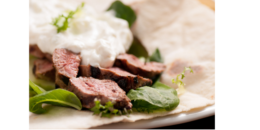 Easy leftover roast lamb wraps