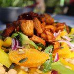 Honey Spring Chicken with Orange and Rocket Salad