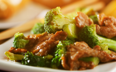 Lamb and broccoli spring stir-fry