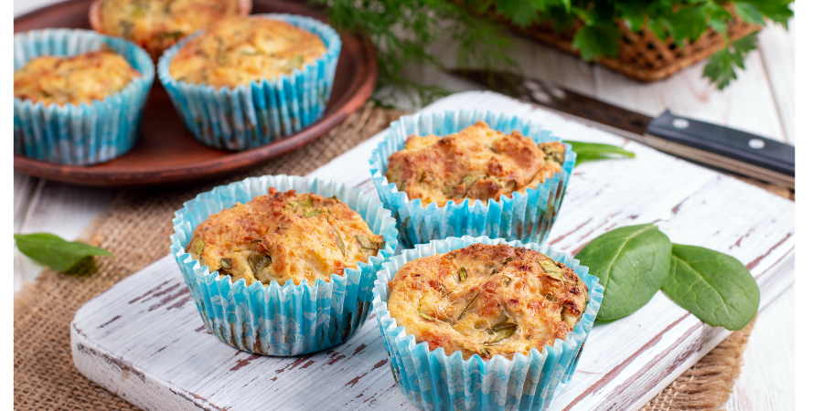 Marinated feta and sundried tomato savoury muffins