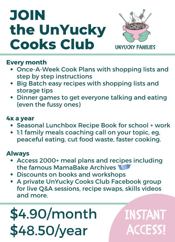 UnYucky Cooks Club Flyer