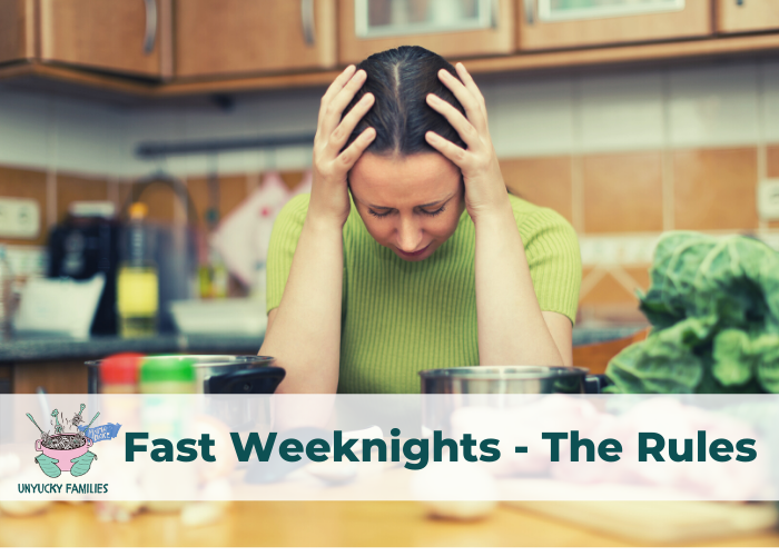 The Fast Weeknights recipe rules