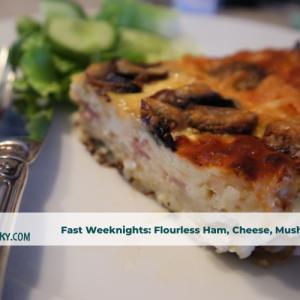 flourless ham cheese tart