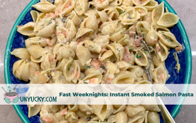 Even faster pasta: Instant Tangy Smoked Salmon Pasta
