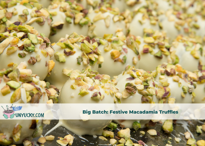Big Batch: Chocolate Macadamia Truffles