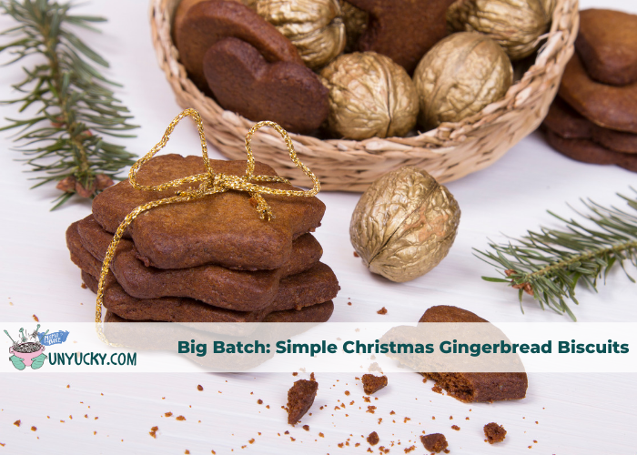 Big Batch Recipe: Simple Gingerbread Christmas Biscuits